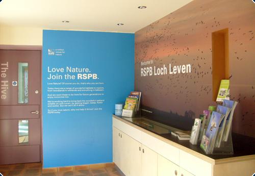 rspb visitors centre shopfitting uk